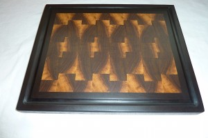 Picture Frame Cutting Board Double Walnut